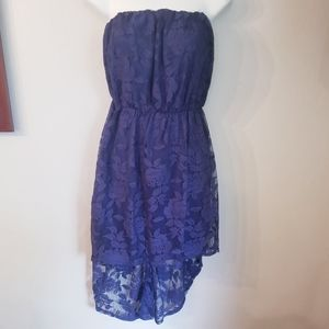 2/15$Nwt myMichelle JR navy blue lace hi-low